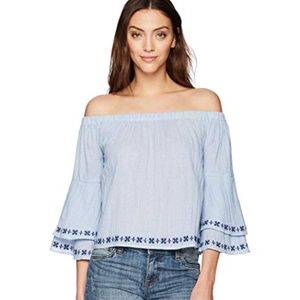 Lucky Brand Women's Embroidered Off-Shoulder Top